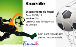Convite Futsal!